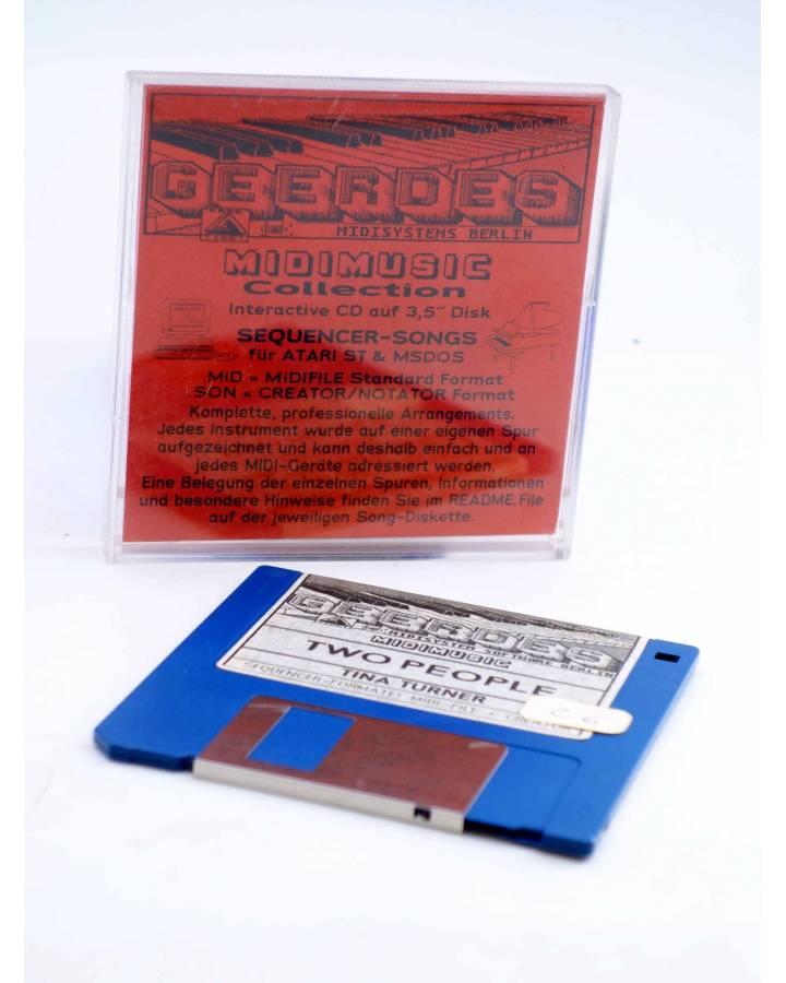"""Cubierta de TWO PEOPLE (Tina Turner) Geerdes Midisystem 1989. DISKETTE 35"""". ATARI MSDOS. MIDI MUSIC"""