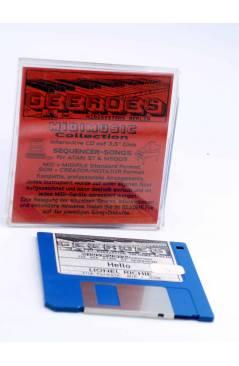 "Cubierta de HELLO (Lionel Richie) Geerdes Midisystem 1989. DISKETTE 35"". ATARI MSDOS. MIDI MUSIC"