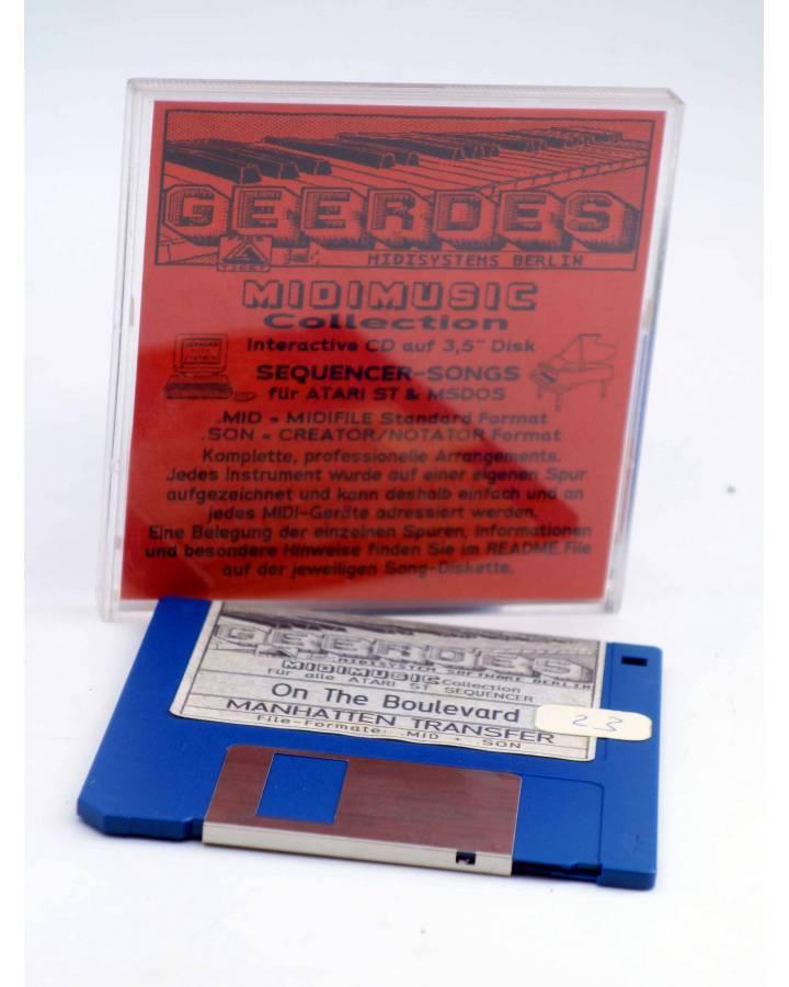 "Cubierta de ON THE BOULEVARD (Manhattan Transfer) Geerdes Midisystem 1989. DISKETTE 35"". ATARI MSDOS. MIDI"
