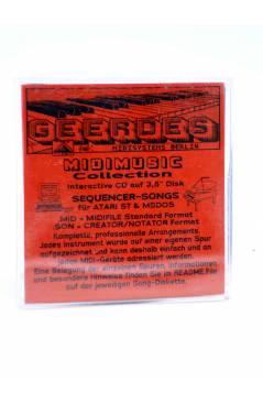 "Contracubierta de ON THE BOULEVARD (Manhattan Transfer) Geerdes Midisystem 1989. DISKETTE 35"". ATARI MSDOS. MIDI"
