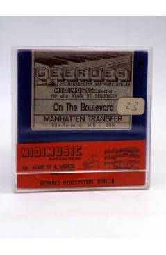 "Muestra 1 de ON THE BOULEVARD (Manhattan Transfer) Geerdes Midisystem 1989. DISKETTE 35"". ATARI MSDOS. MIDI"