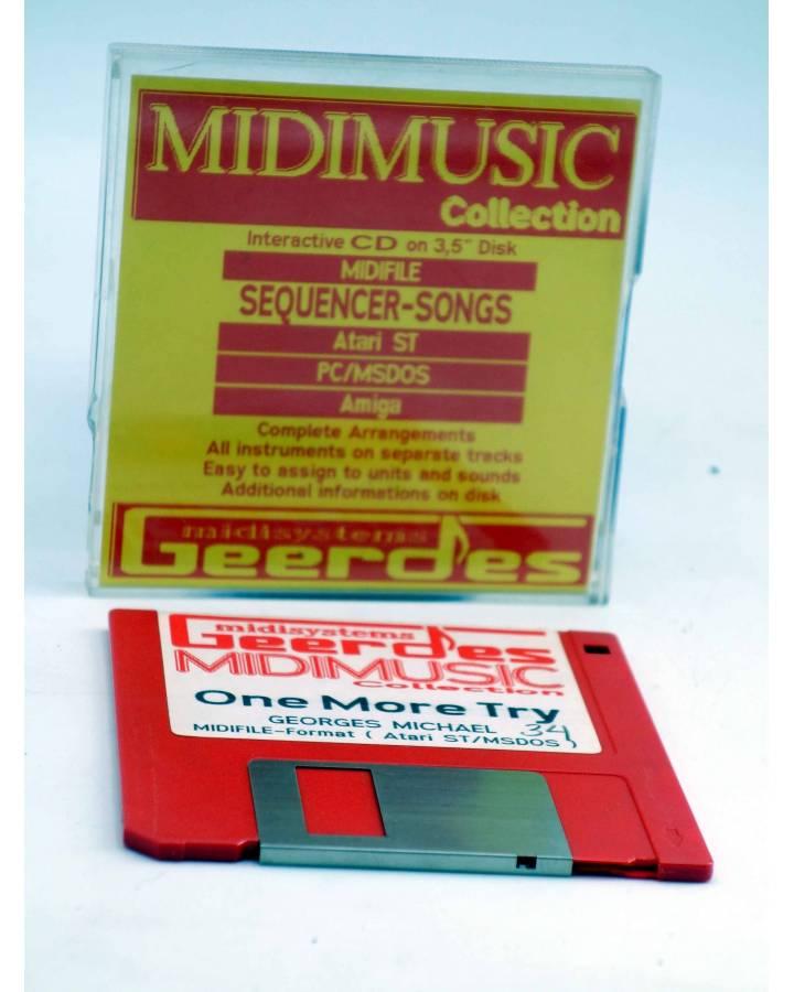 "Cubierta de ONE MORE TRY (Georges Michael) Geerdes Midisystem 1989. DISKETTE 35"". ATARI MSDOS. MIDI MUSIC"