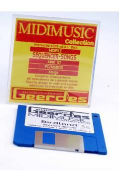 "Cubierta de BIRDLAND (Weather Report) Geerdes Midisystem 1989. DISKETTE 35"". ATARI MSDOS. MIDI MUSIC"