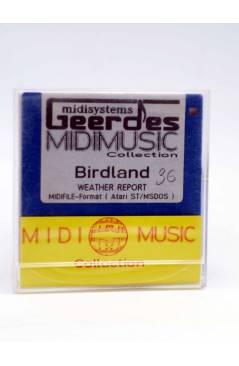 "Contracubierta de BIRDLAND (Weather Report) Geerdes Midisystem 1989. DISKETTE 35"". ATARI MSDOS. MIDI MUSIC"