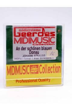 """Contracubierta de AN DER SCHÖNEN BLAUEN DONAU (Johann Strauss) Geerdes Midisystem 1989. DISKETTE 35"""". ATARI MSDOS"""