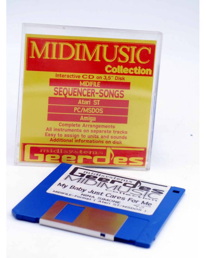 "Cubierta de MY BABY JUST CARES FOR ME (Nina Simone) Geerdes Midisystem 1989. DISKETTE 35"". ATARI MSDOS"