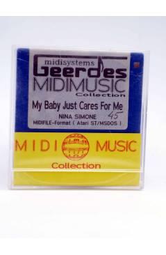 "Contracubierta de MY BABY JUST CARES FOR ME (Nina Simone) Geerdes Midisystem 1989. DISKETTE 35"". ATARI MSDOS"