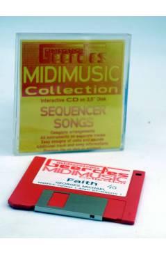 "Cubierta de FAITH (Georges Michael) Geerdes Midisystem 1989. DISKETTE 35"". ATARI MSDOS. MIDI MUSIC"