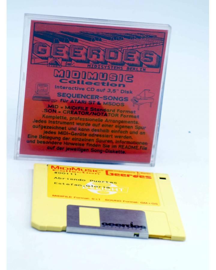 "Cubierta de ABRIENDO PUERTAS (Gloria Estefan) Geerdes Midisystem 1989. DISKETTE 35"". ATARI MSDOS. MIDI MUSIC"