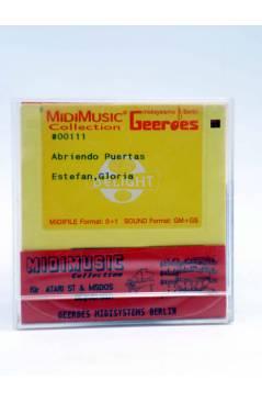 "Contracubierta de ABRIENDO PUERTAS (Gloria Estefan) Geerdes Midisystem 1989. DISKETTE 35"". ATARI MSDOS. MIDI MUSIC"
