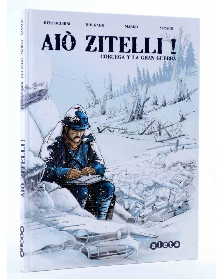 Cubierta de AIÒ ZITELLI! CÓRCEGA Y LA GRAN GUERRA (Bertocchini / Holgado / Marko) Aleta 2014