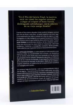 Contracubierta de EL PRINCIPIO ANTRÓPICO (Javier Esteban) Viaje a Bizancio 2010