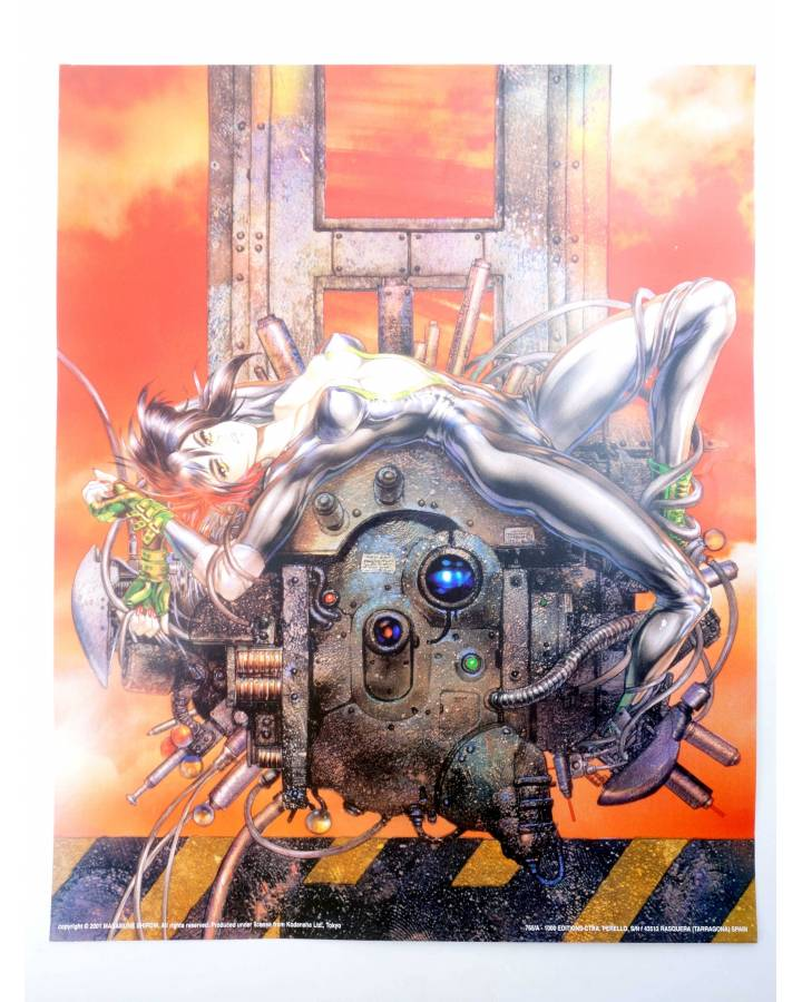 Cubierta de POSTER THE GHOST IN THE SHELL REF: 765/A. 50x40 cm (Masamune Shirow) 1000 Editions 2000