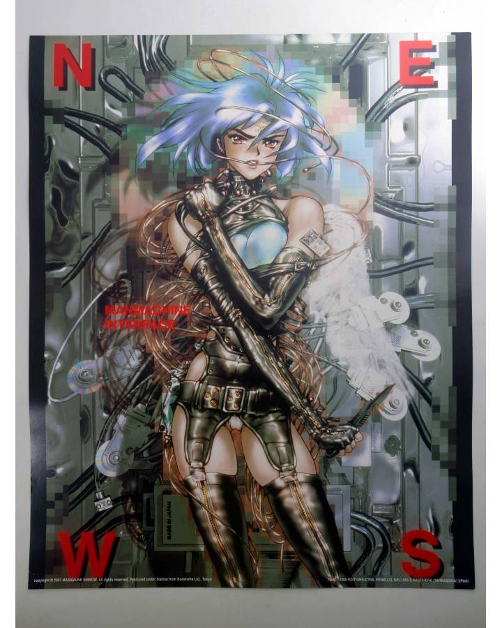 Cubierta de POSTER THE GHOST IN THE SHELL REF: 765/D. 50x40 cm (Masamune Shirow) 1000 Editions 2000