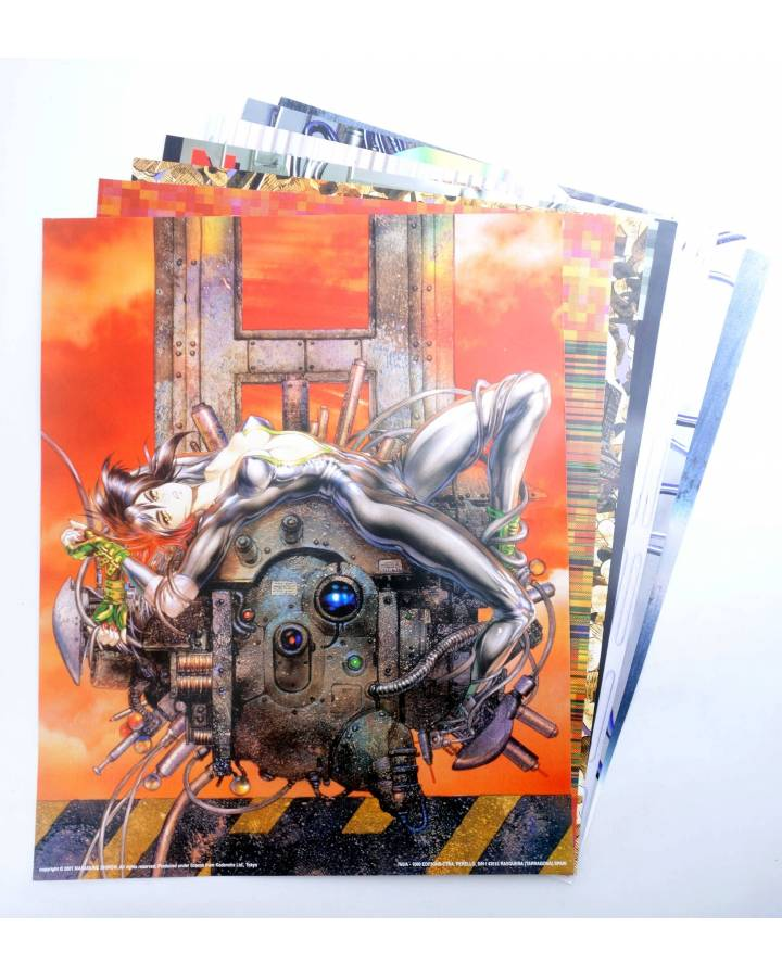 Cubierta de LOTE 7 POSTERS THE GHOST IN THE SHELL. 40X50 cm (Masamune Shirow) 1000 Editions 2000