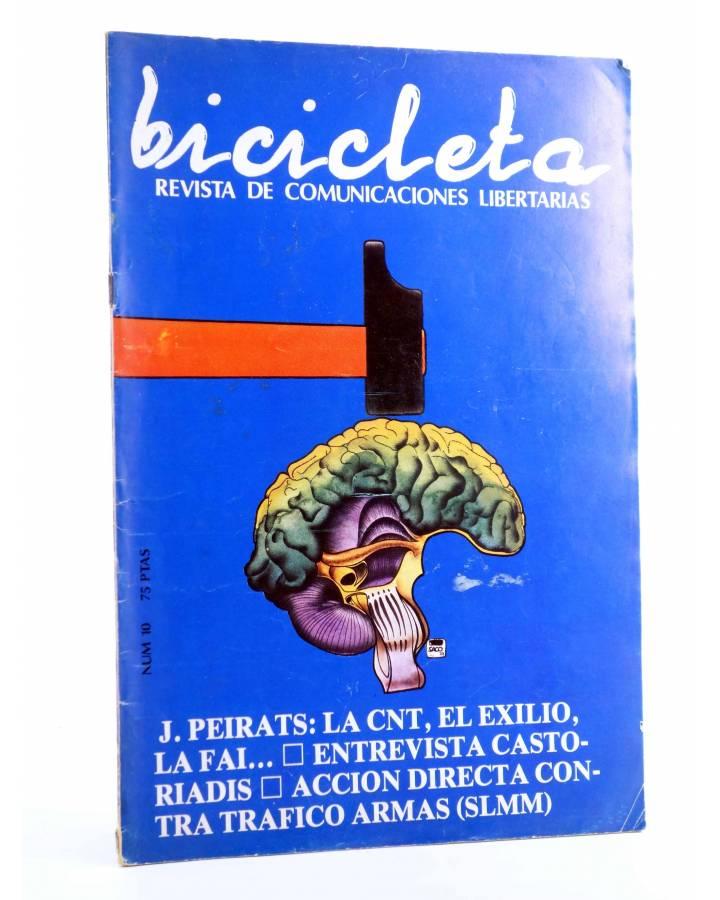 Cubierta de BICICLETA. REVISTA DE COMUNICACIONES LIBERTARIAS 10 (Vvaa) Barcelona 1978