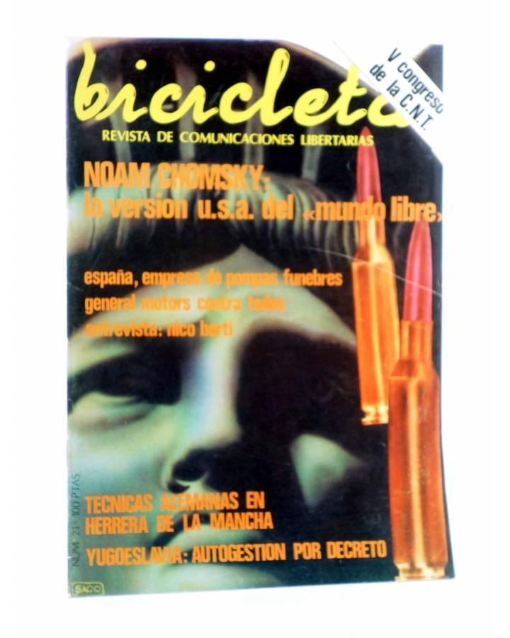 Cubierta de BICICLETA. REVISTA DE COMUNICACIONES LIBERTARIAS 21. NOAM CHOMSKY (Vvaa) Barcelona 1978