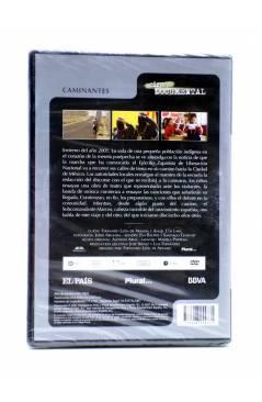 Contracubierta de DVD CINE DOCUMENTAL. CAMINANTES (Fernando León De Aranoa) El País 2007