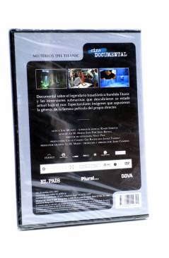 Contracubierta de DVD CINE DOCUMENTAL. LOS MISTERIOS DEL TITANIC (James Cameron) El País 2007