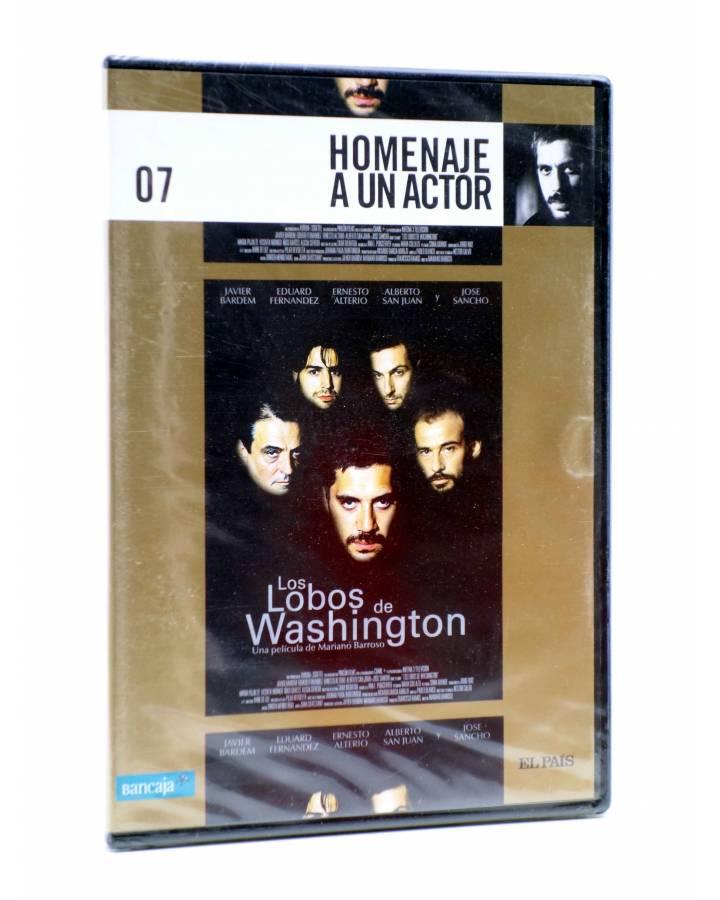 Cubierta de DVD HOMENAJE A UN ACTOR: JAVIER BARDEM 7. LOS LOBOS DE WASHINGTON (Mariano Barroso) El País 2008