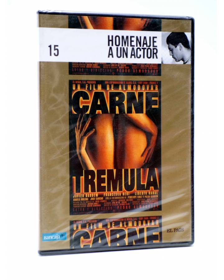 Cubierta de DVD HOMENAJE A UN ACTOR: JAVIER BARDEM 15. CARNE TRÉMULA (Pedro Almodóvar) El País 2008