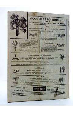 Contracubierta de REVISTA EL CULTIVADOR MODERNO AÑO XXIX Nº 3. MARZO 1946 (Vvaa) El Cultivador Moderno 1946