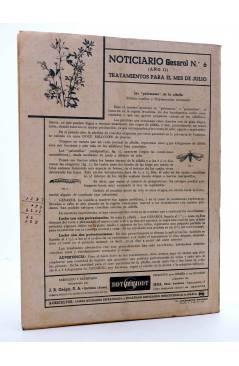 Contracubierta de REVISTA EL CULTIVADOR MODERNO AÑO XXIX Nº 6. JUNIO 1946 (Vvaa) El Cultivador Moderno 1946