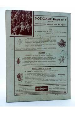 Contracubierta de REVISTA EL CULTIVADOR MODERNO AÑO XXIX Nº 7. JULIO 1946 (Vvaa) El Cultivador Moderno 1946