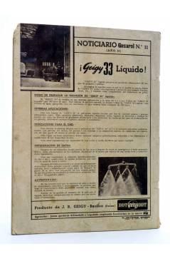 Contracubierta de REVISTA EL CULTIVADOR MODERNO AÑO XXIX Nº 11. NOVIEMBRE 1946 (Vvaa) El Cultivador Moderno 1946