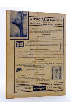 Contracubierta de REVISTA EL CULTIVADOR MODERNO AÑO XXX Nº 2. FEBRERO 1947 (Vvaa) El Cultivador Moderno 1947