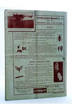 Contracubierta de REVISTA EL CULTIVADOR MODERNO AÑO XXX Nº 4. ABRIL 1947 (Vvaa) El Cultivador Moderno 1947