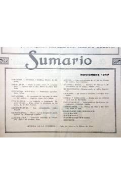 Contracubierta de REVISTA EL CULTIVADOR MODERNO AÑO XXX Nº 11. NOVIEMBRE 1947 (Vvaa) El Cultivador Moderno 1947