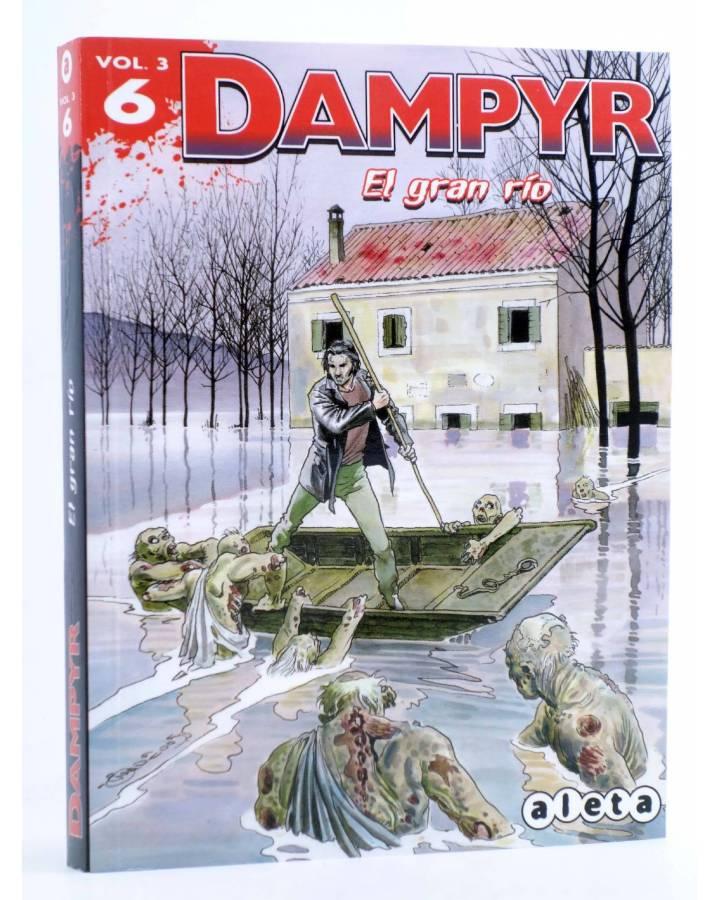Cubierta de DAMPYR VOL. 3 Nº 6. EL GRAN RÍO (Boselli / Dotti / Russo / Andreucci) Aleta 2015