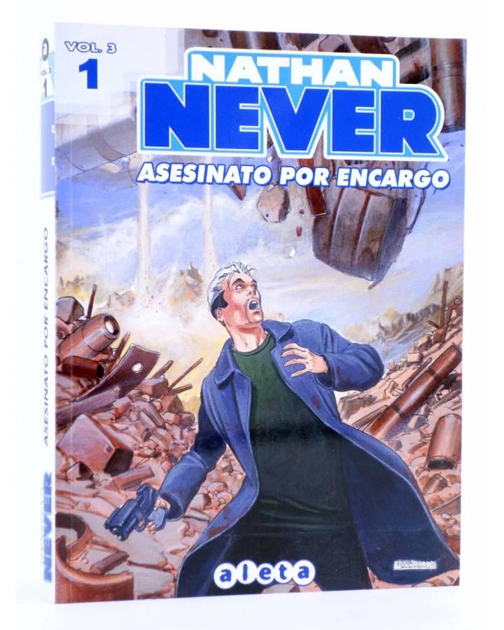 Cubierta de NATHAN NEVER VOL. 3 Nº 1. ASESINATO POR ENCARGO (Vvaa) Aleta 2013