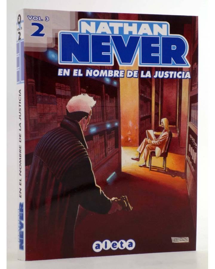 Cubierta de NATHAN NEVER VOL. 3 Nº 2. EN EL NOMBRE DE LA JUSTICIA (Vvaa) Aleta 2013