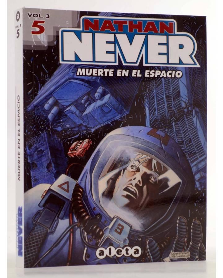 Cubierta de NATHAN NEVER VOL. 3 Nº 5. MUERTE EN EL ESPACIO (Vvaa) Aleta 2015