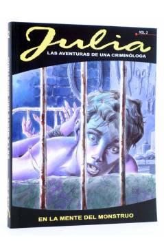 Cubierta de JULIA LAS AVENTURAS DE UNA CRIMINÓLOGA 2. EN LA MENTE DEL MONSTRUO (Berardi) Aleta 2011