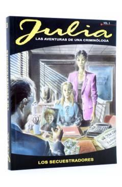 Cubierta de JULIA LAS AVENTURAS DE UNA CRIMINÓLOGA 3. LOS SECUESTRADORES (Berardi) Aleta 2011