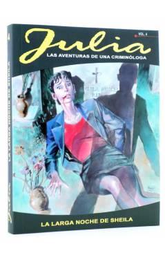 Cubierta de JULIA LAS AVENTURAS DE UNA CRIMINÓLOGA 4. LA LARGA NOCHE DE SHEILA (Berardi) Aleta 2011