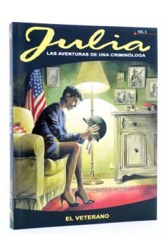 Cubierta de JULIA LAS AVENTURAS DE UNA CRIMINÓLOGA 5. EL VETERANO (Berardi) Aleta 2012