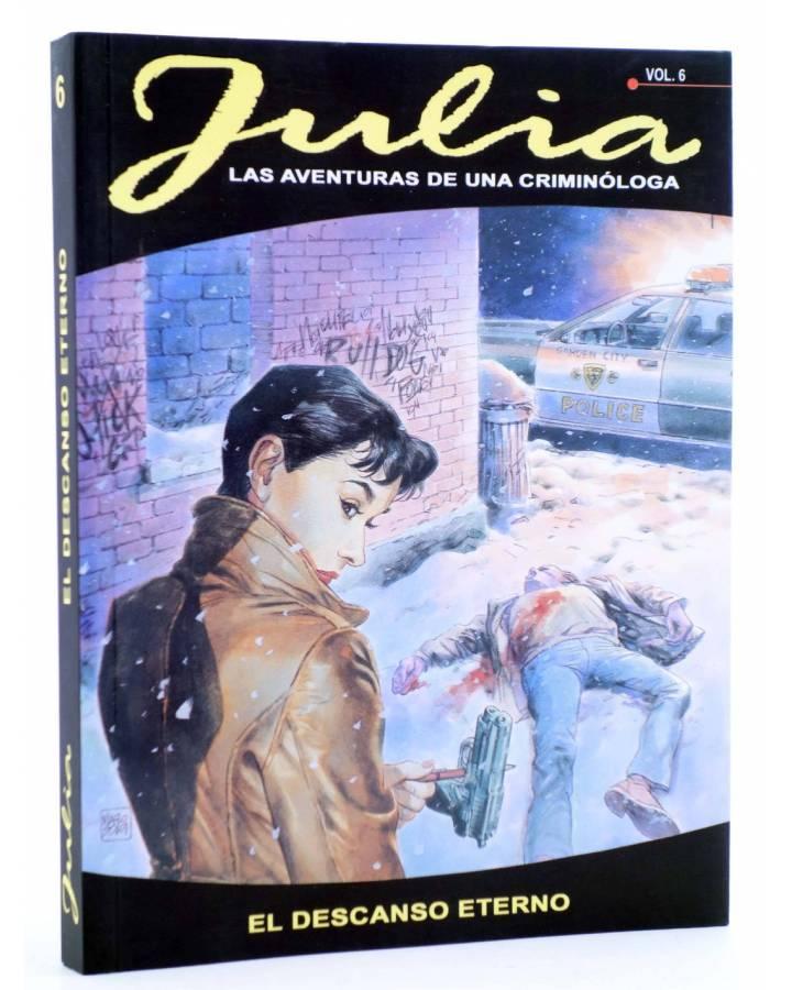 Cubierta de JULIA AVENTURAS DE UNA CRIMINÓLOGA 6. EL DESCANSO ETERNO (Berardi) Aleta 2013
