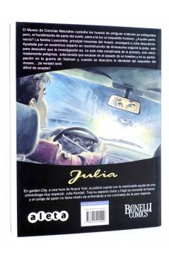 Contracubierta de JULIA AVENTURAS DE UNA CRIMINÓLOGA 6. EL DESCANSO ETERNO (Berardi) Aleta 2013