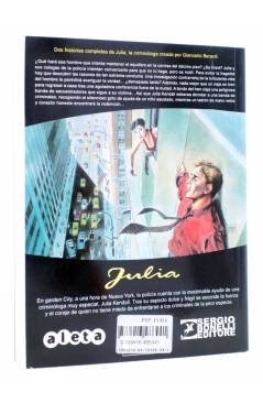 Contracubierta de JULIA LAS AVENTURAS DE UNA CRIMINÓLOGA 12. SECUESTRO EXPRÉS (Berardi) Aleta 2016