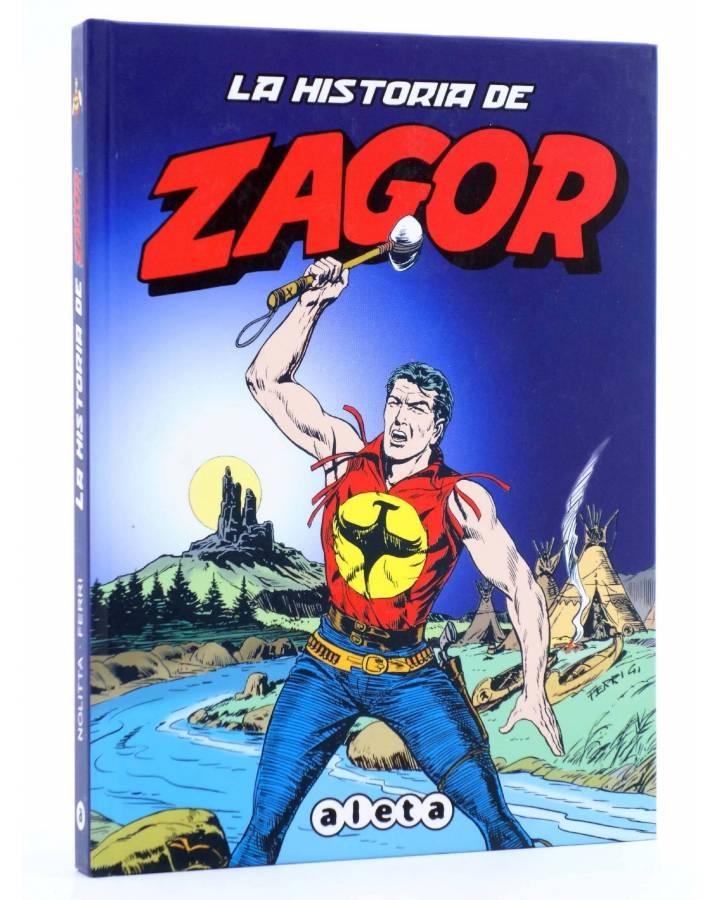 Cubierta de ZAGOR. LA HISTORIA DE ZAGOR (Guido Nolitta / Gallieno Ferri) Aleta 2012