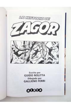 Contracubierta de ZAGOR. LA HISTORIA DE ZAGOR (Guido Nolitta / Gallieno Ferri) Aleta 2012