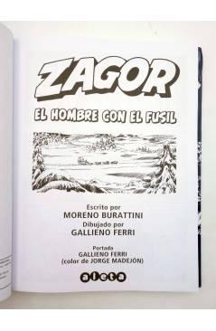 Muestra 1 de ZAGOR. EL HOMBRE CON EL FUSIL (Moreno Burattini / Gallieno Ferri) Aleta 2015