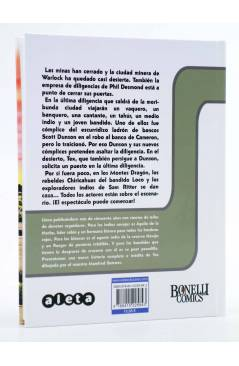 Contracubierta de TEX. LA ÚLTIMA DILIGENCIA (Mauro Boselli / Manfred Sommer) Aleta 2013
