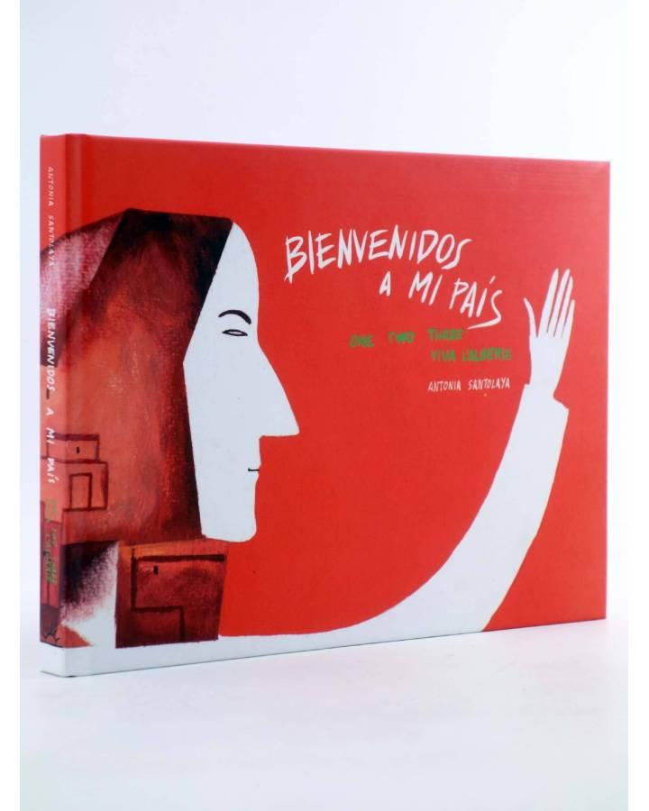 Cubierta de PAPERS GRISOS 30. BIENVENIDOS A MI PAÍS (Antonia Santolaya) De Ponent 2011