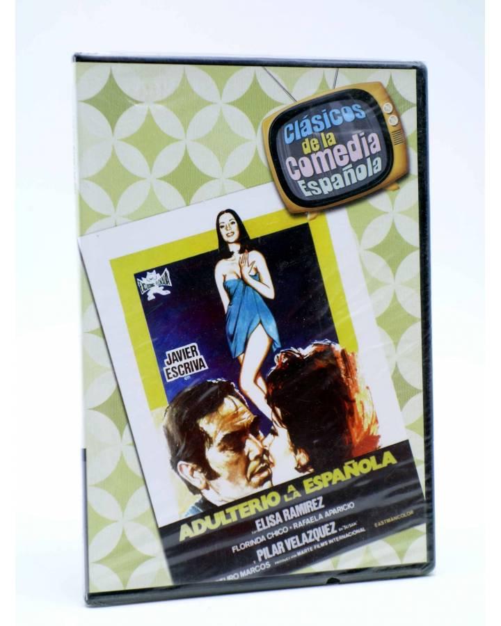 Cubierta de DVD CLÁSICOS DE LA COMEDIA ESPAÑOLA 9. ADULTERIO A LA ESPAÑOLA (Arturo Marcos) 2005