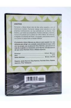 Contracubierta de DVD CLÁSICOS DE LA COMEDIA ESPAÑOLA 9. ADULTERIO A LA ESPAÑOLA (Arturo Marcos) 2005